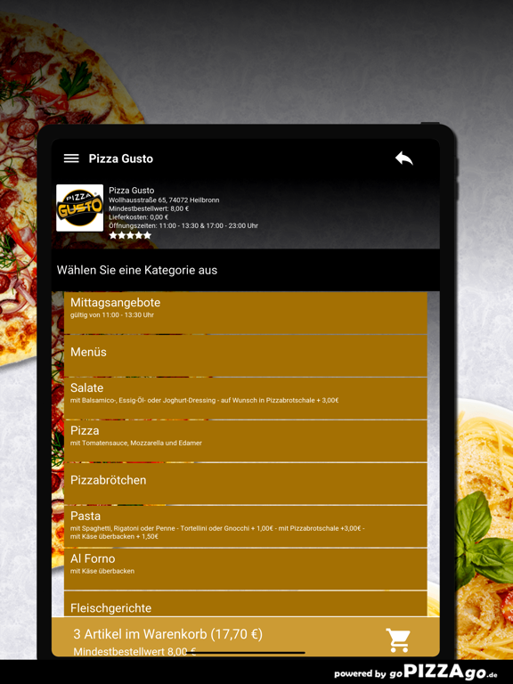 Pizza Gusto Heilbronn screenshot 8