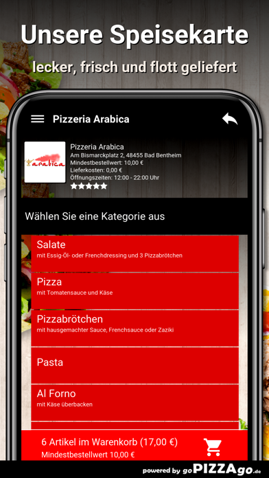 Pizzeria Arabica Bad Bentheim screenshot 4