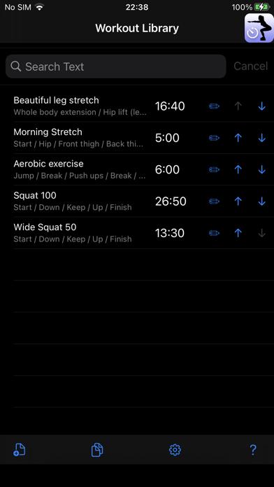 Workout Speech Timer screenshot 1