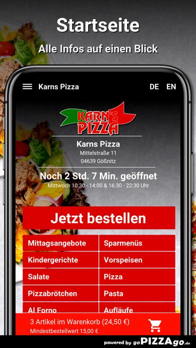 Karns Pizza Gößnitz screenshot 2