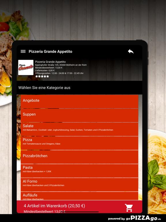 Pizzeria Grande Appetito Mülhe screenshot 8