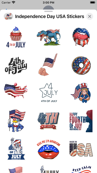 Independence Day USA Stickers screenshot 2