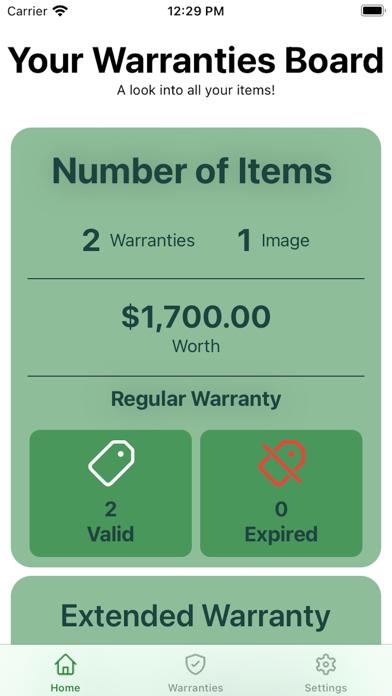 The Warranties Screenshot