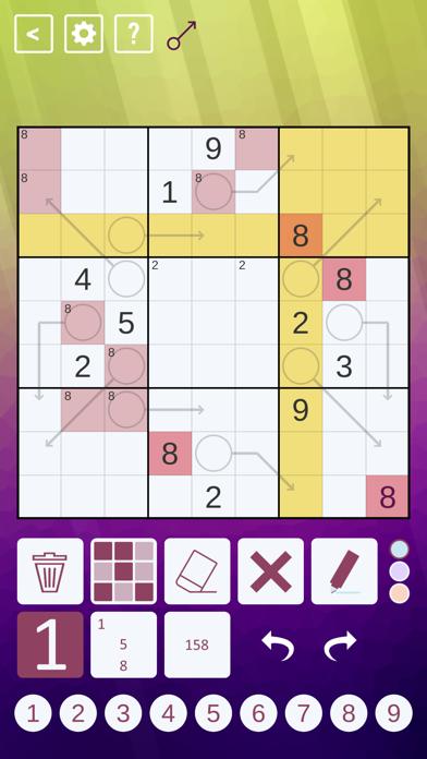 Arrow Sudoku screenshot 1