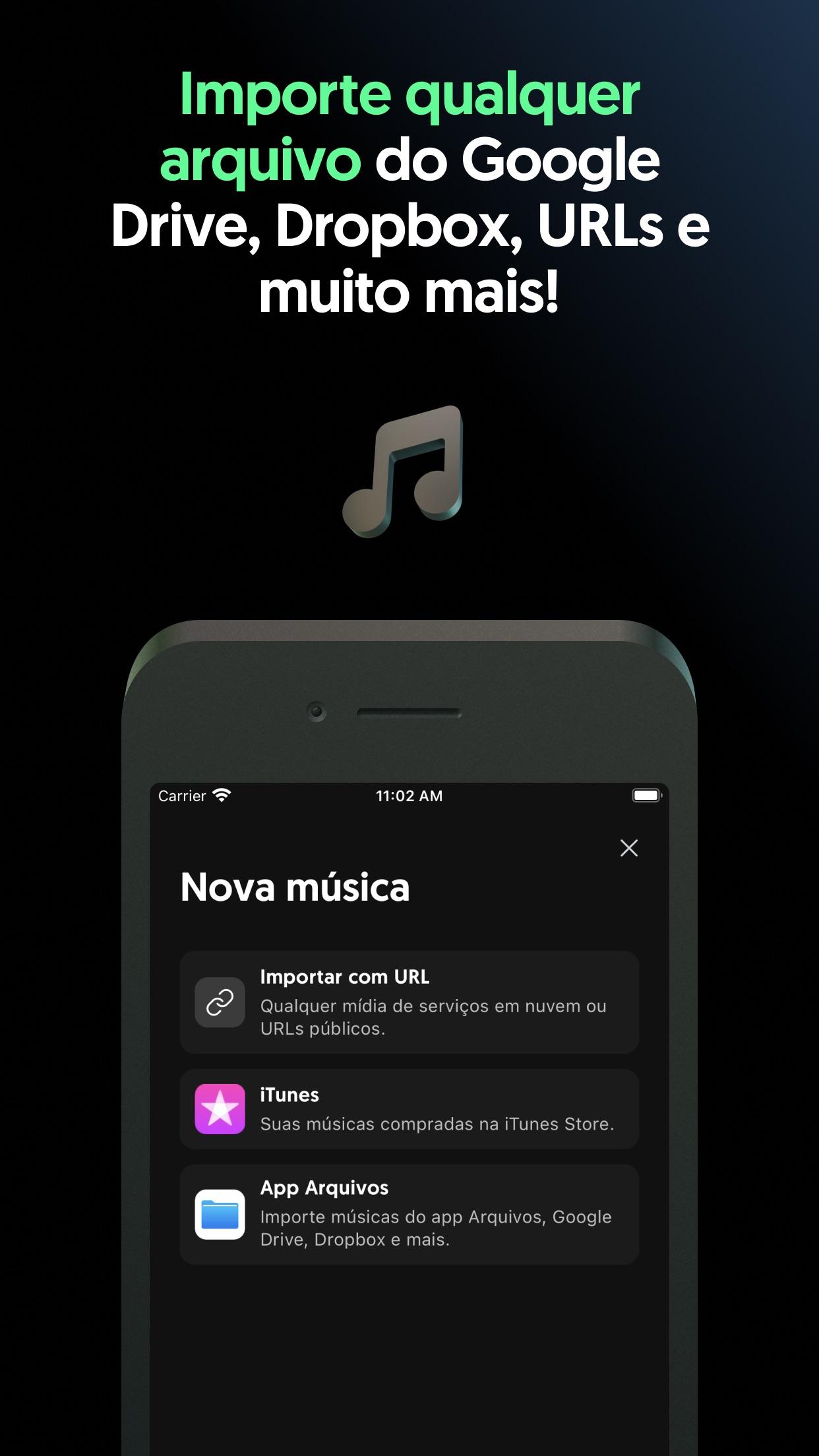 Screenshot do app Moises: Separação de Música