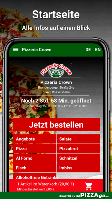 Pizzeria Crown Rüsselsheim screenshot 4
