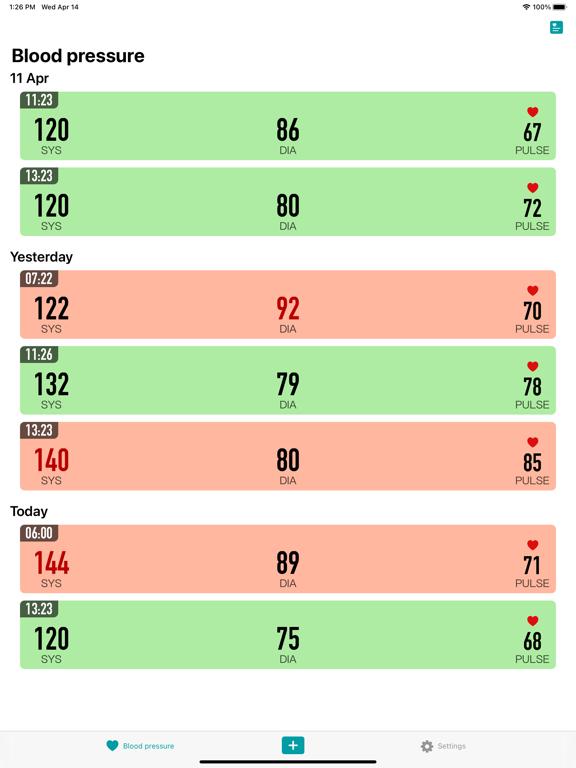 KeepBP - Blood pressure app Screenshots