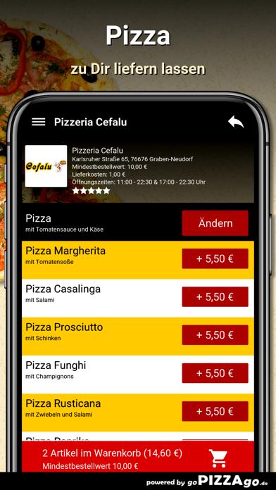 Pizzeria Cefalu Graben-Neudorf screenshot 5