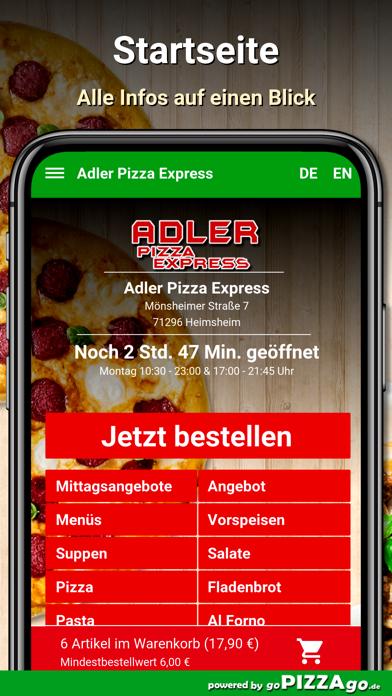 Adler Pizza Express Heimsheim screenshot 2