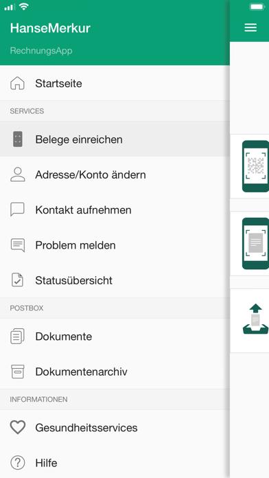 HanseMerkur RechnungsAppScreenshot von 3