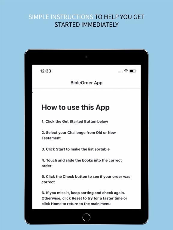 the BibleOrder App screenshot 10
