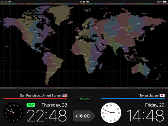 Globe Clock Screenshots
