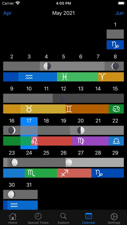 AstroMoon: Moon Calendar screenshot-5