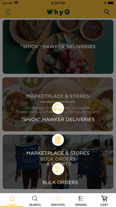 WhyQ Hawker DeliveryScreenshot of 2