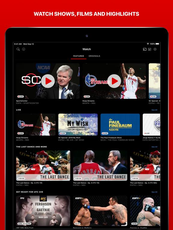 Screenshot #5 pour ESPN: Live Sports & Scores