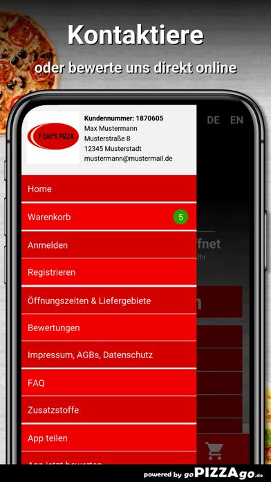 7 Days Pizza Dreieich screenshot 3