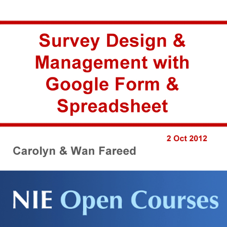 survey design management with google form spreadsheet free